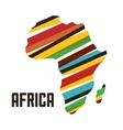 Africa design map shape icon graphic vector image