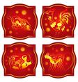 Chinese animals horoscope set vector image