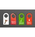Door signs vector image