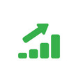 flat design style concept of sales bar chart vector image