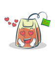 in love tea bag character cartoon vector image