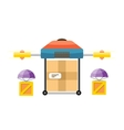 Quadrocopter Delivery Design Flat vector image