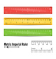 school measuring ruler measure tool vector image