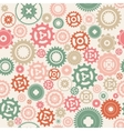 Background metallic with gears vector image