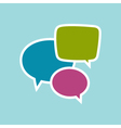 Speech Bubbles Isolated on Blue Background vector image