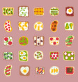 sweets dessert isolated food isolated vector image
