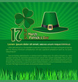 st patricks day background with space for text vector image vector image