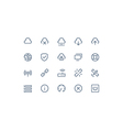 Wireless network icons vector image vector image