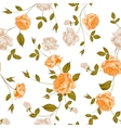 Roses floral background seamless pattern vector image