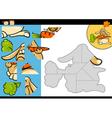 cartoon rabbit jigsaw puzzle game vector image