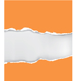 Orange ripped paper vector image