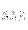Abstract women with beautiful necklines vector image