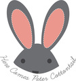 Peter Cottontail vector image