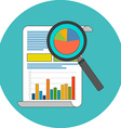 Data analysis concept Flat design Icon in vector image
