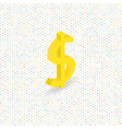 dollar sign on a digital background isometric vector image
