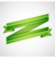 Green ribbon on gray vector image