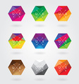 hexagonal logo designs vector image