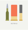 Line tile color hunt and camping icon vector image
