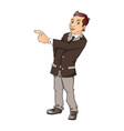 portrait of businessman pointing vector image