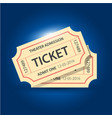 set of eleven tickets and coupons templates vector image