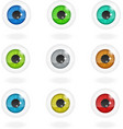 Set of multi-colored eyes vector image