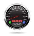 speedometer on car computer vector image