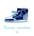 trendy sneakers vector image