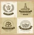 Vintage olive oil labels set vector image