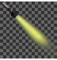 Yellow Light of Torch vector image