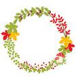 Autumn Forest Wreath vector image