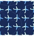 Seamless pattern with flat styled planes vector image