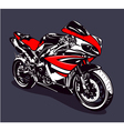 Red sport motorbike vector image vector image