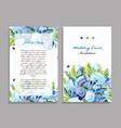 wedding card template floral design vector image vector image