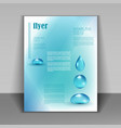 booklet with water drops vector image
