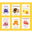 French sweet delicacy macaroons recipe cards vector image