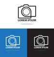 line camera logo vector image