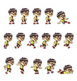 Geeky Boy Game Sprites vector image vector image