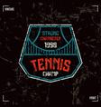 Tennis badge vector image