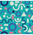 Memphis fashion style modern pattern background vector image