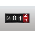 Classic counter Year counting vector image vector image