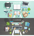 Education and e-learning concepts vector