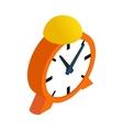 Alarm clock isometric 3d icon vector image