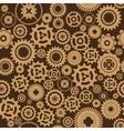 Background metallic with gears vector image