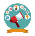 digital marketing megaphone social media vector image
