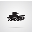 Gray Tank Icon over light gray background vector image