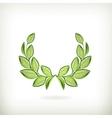 Laurel wreath green award vector image