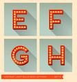 Vintage light bulb sign letters e f g h vector image