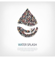 water splash people sign vector image