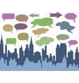 city talk vector image