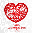 White Valentine card for your congratulations vector image